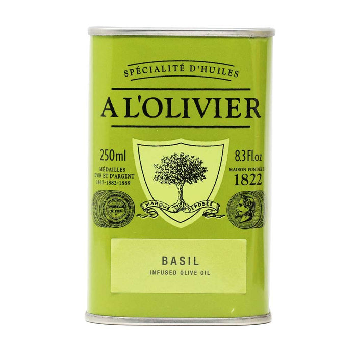 A L'Olivier - Basil Infused Extra Virgin Olive Oil, 250ml Tin