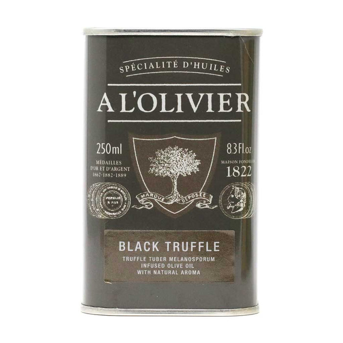 A L'Olivier - Black Truffle Infused Extra Virgin Olive Oil, 250ml Tin