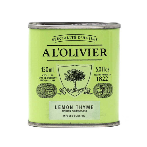 A L'Olivier - Lemon & Thyme Infused Extra Virgin Olive Oil, 150ml