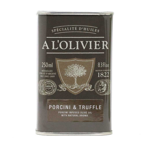 A L'Olivier - Porcini & Truffle Infused Extra Virgin Olive Oil, 250ml