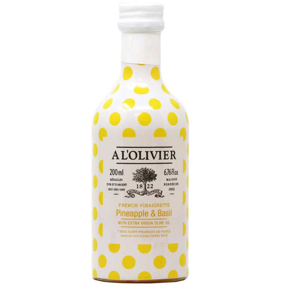 A L'Olivier - Pineapple & Basil Vinaigrette with Extra Virgin Olive Oil, 200ml (6.8 fl oz)
