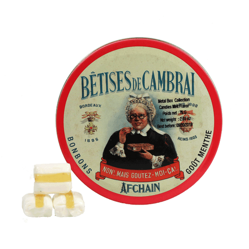 Betises of Cambrai Candies Mint Flavor, Metal Box 75g