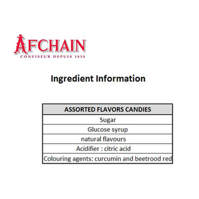 AF Chain - Betises of Cambrai Candies Lemon Orange Flavors, 75g