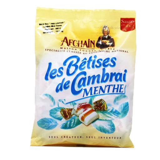 AF Chain - Betises of Cambrai Candies, Mint Flavor, 120g Bag