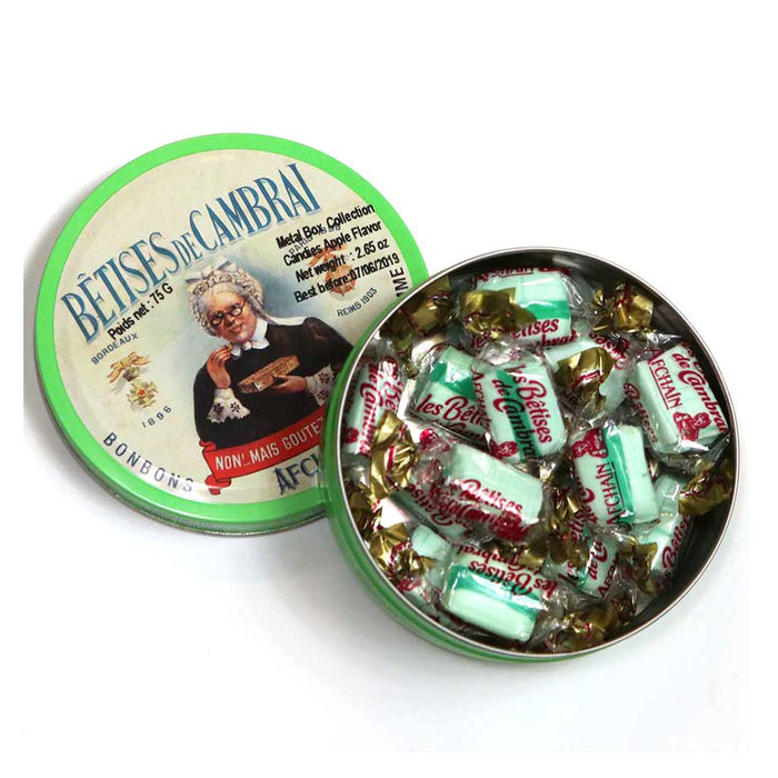 AF Chain - Betises of Cambrai Candies Apple Flavor, Metal Box 75g