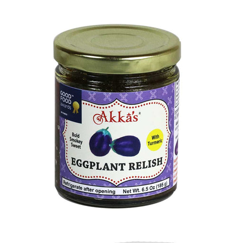 Akka's - Eggplant Relish Indian Pickle, 6.5oz Jar