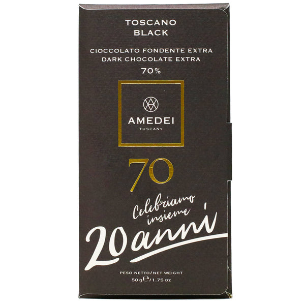 Amedei - 70% Dark Chocolate Bar, Toscano Black, 50g
