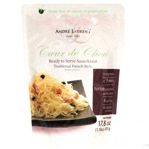 Andre Laurent - Sauerkraut, Traditional French Style, 500g (17.6oz) Pouch