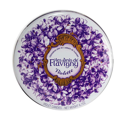 Les Anis de Flavigny - Violet Flavored Anise Candy, 190g Tin