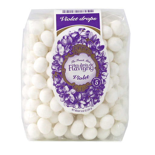 Les Anis de Flavigny - Violet Flavored Anise Candy, 250g Pouch