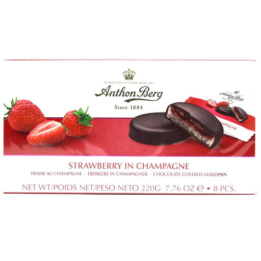 Anthon Berg - Strawberry in Champagne Chocolate Marzipan, 7.6oz