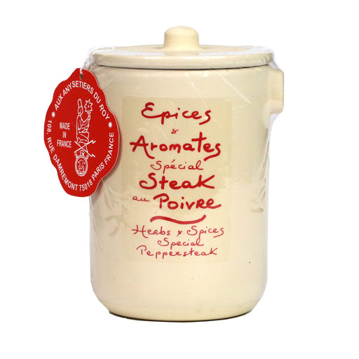 Aux Anysetiers du Roy - Herbs Special Peppersteak (Steak au Poivre), 4.6oz Crock