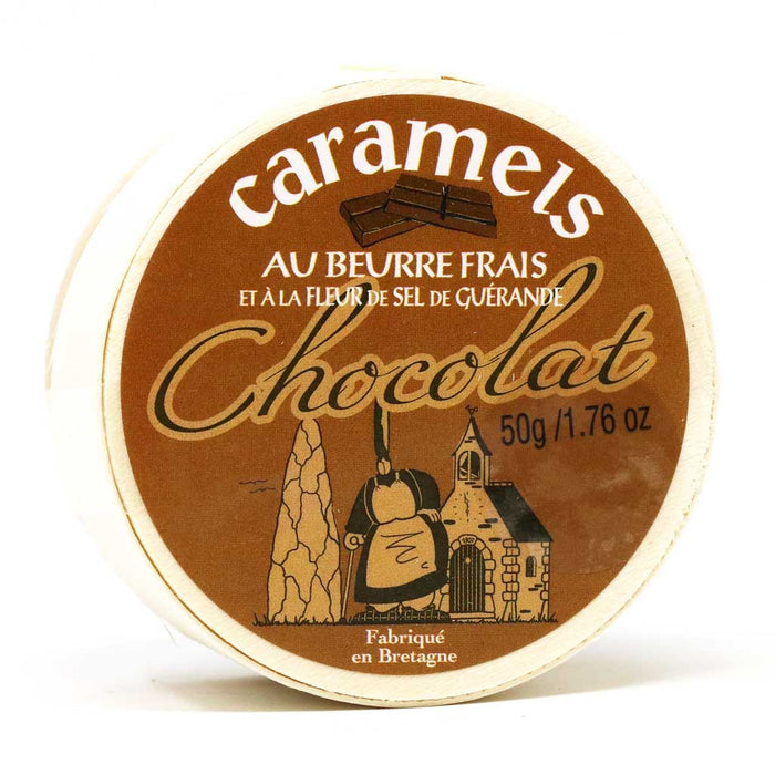 Maison Armorine - Chocolate Caramel Sweets, 50g Wooden Box