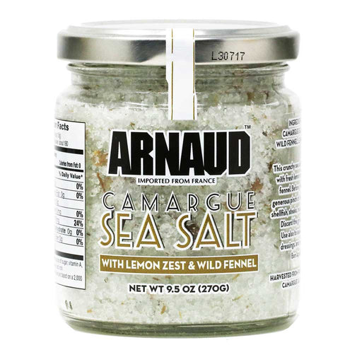 Arnaud - Camargue Sea Salt with Lemon & Fennel, 9.5oz
