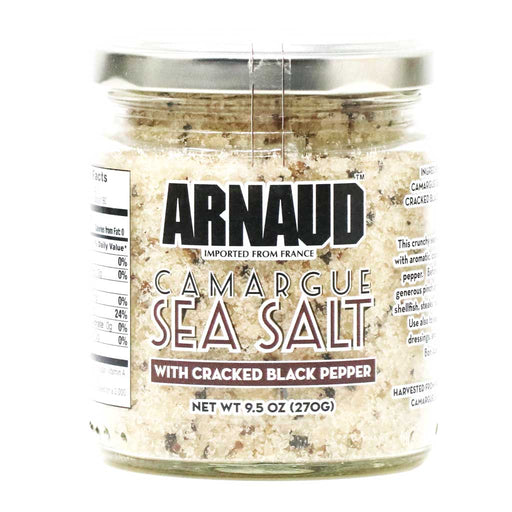 Arnaud - Camargue Sea Salt with Black Pepper, 9.5oz