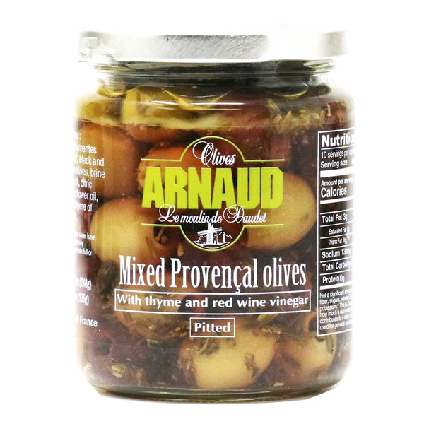 Arnaud - 4 Mixed Provencal Olives Pitted, 9.2oz