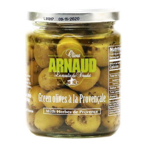 Arnaud - Green Olives with Provence Herbs, 9.2oz
