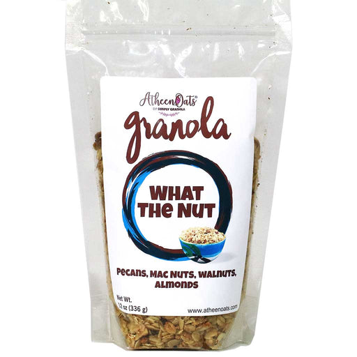 AtheenOats - What the Nut Granola (Pecans, Macademia, Walnuts, Almonds), 12oz