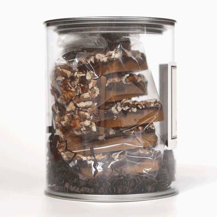 B Toffee - Chocolate Toffee - Gift Canister, 9 oz