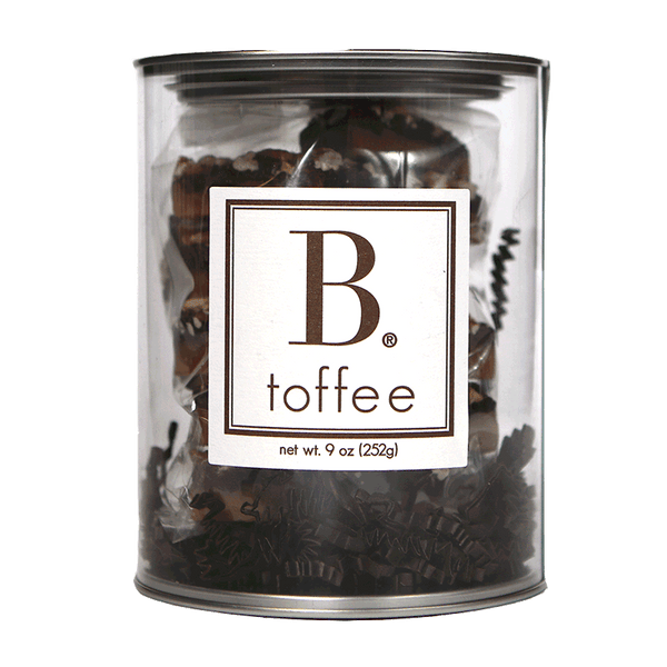 B Toffee - Chocolate Toffee - Gift Canister, 9oz