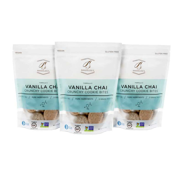 Bakeology - Vanilla Chai Cookie Bites, 6oz