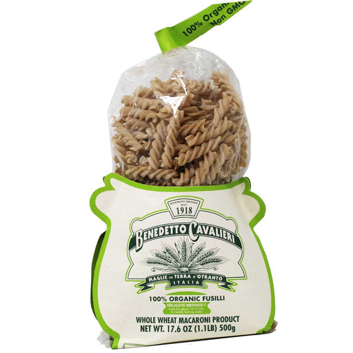 Benedetto Cavalieri - Organic Whole Wheat Fusilli Pasta, 17.6oz