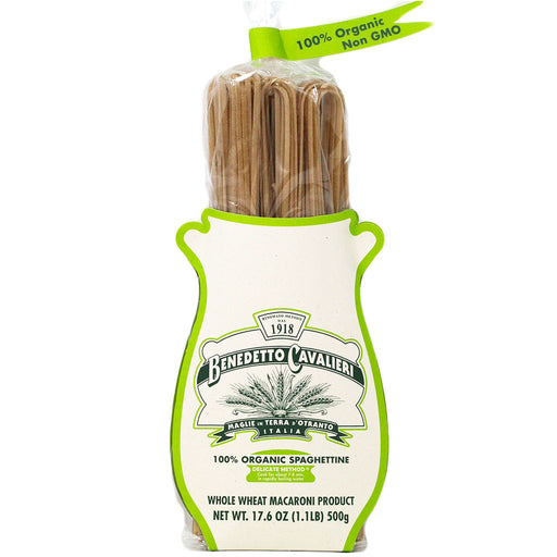 Benedetto Cavalieri - Organic Whole Wheat Spaghettine Pasta, 17.6oz