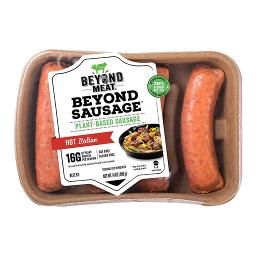 Beyond Meat - Plant-Based Sausage, Hot Italian, 14oz (400g)