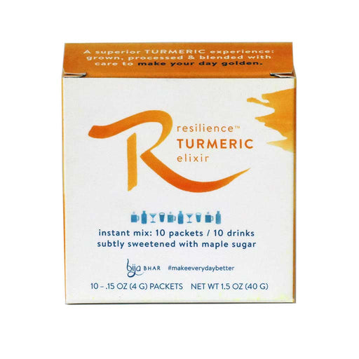 Bija Bhar - Turmeric Drink, Box of 10 Single Serving Pouches