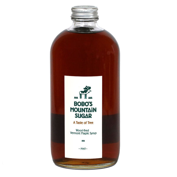 Dark Robust Pure Vermont Maple Syrup by Bobo's Mountain, 16oz