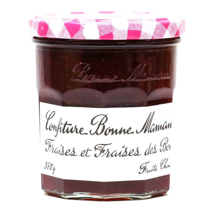 Bonne Maman French Strawberry & Wild Strawberry Jam, 370g (13oz)