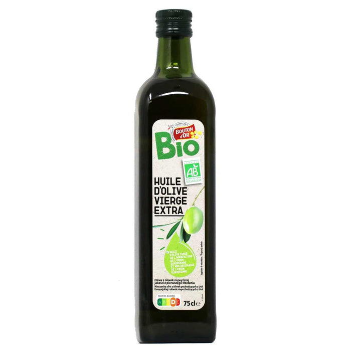 Bouton d'Or - Organic Pure Extra Virgin Olive Oil, 75cl (25.3 fl oz) Bottle