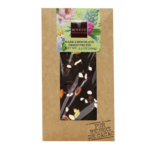 Bovetti - 73% Dark Chocolate with Dried Fruits & Nuts, 100g
