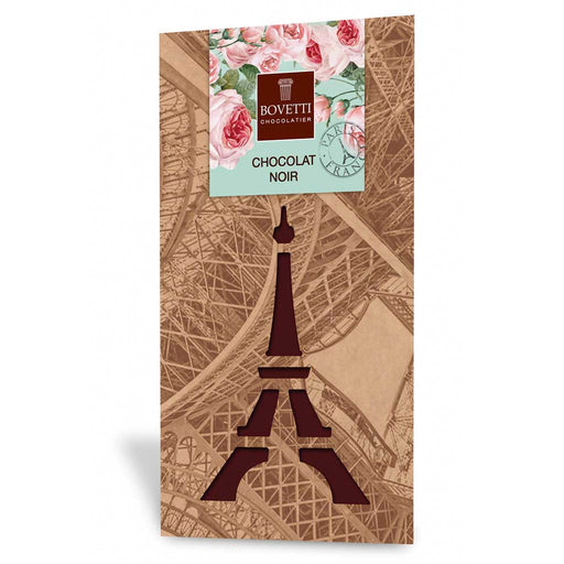 Bovetti Dark Chocolate Bar - Paris Eiffel Tower, 100g