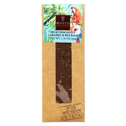 Bovetti - Milk Chocolate Bar with Caramel & Sea Salt, 50g