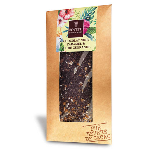 Bovetti Dark Chocolate with Caramel & Sea Salt, 100g