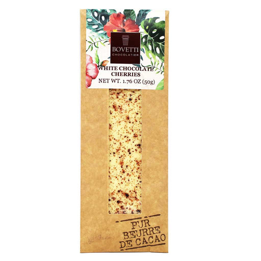 Bovetti - White Chocolate Bar with Cherries, 50g