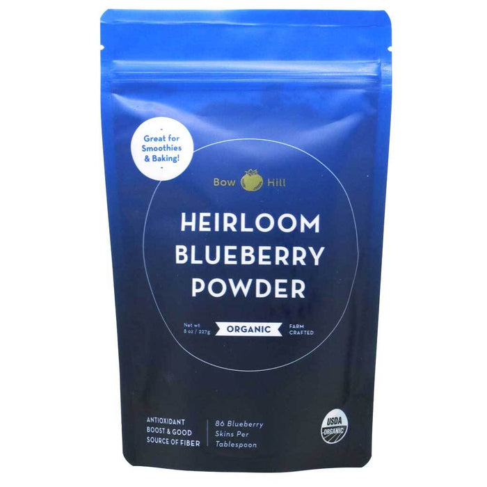 Bow Hill Blueberries - Organic Heirloom Blueberry Powder, 8oz (227g)