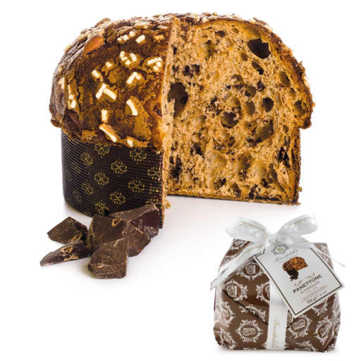 Brontedolci - Panettone Cake 'Brontechoc' Filled with Chocolate Chips, 750g