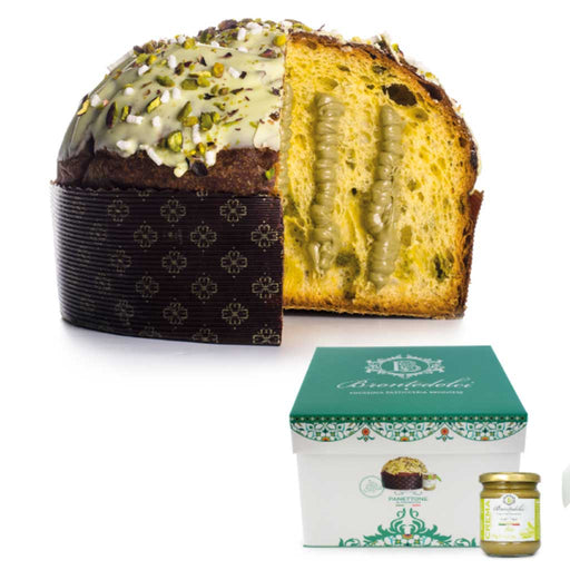 Brontedolci - Panettone Cake 'Bronte d'Or' with Pistachio Cream, 1kg