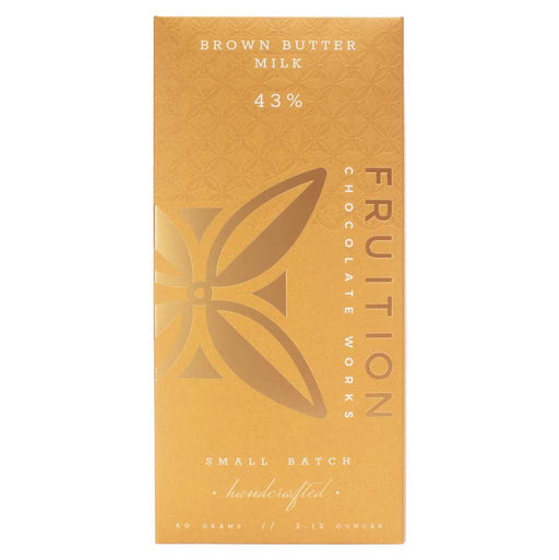 Fruition Chocolate Works - Brown Butter Milk Chocolate Bar, 2.12oz (60g)
