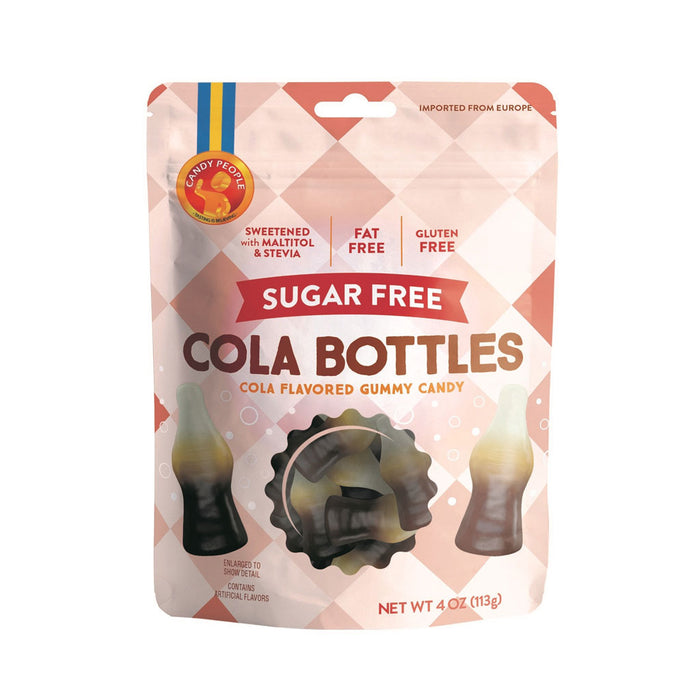 Candy People - Sugar Free Cola Bottles Gummy Candy, 4oz