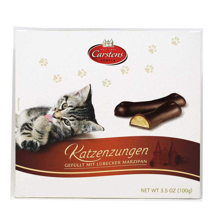 Carstens - Lubecker Chocolate Covered Marzipan Cat Tongues, 3.5oz
