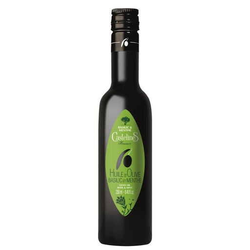 Moulin CastelaS - Basil & Mint Olive Oil from Provence, 8.45 fl oz (250ml)