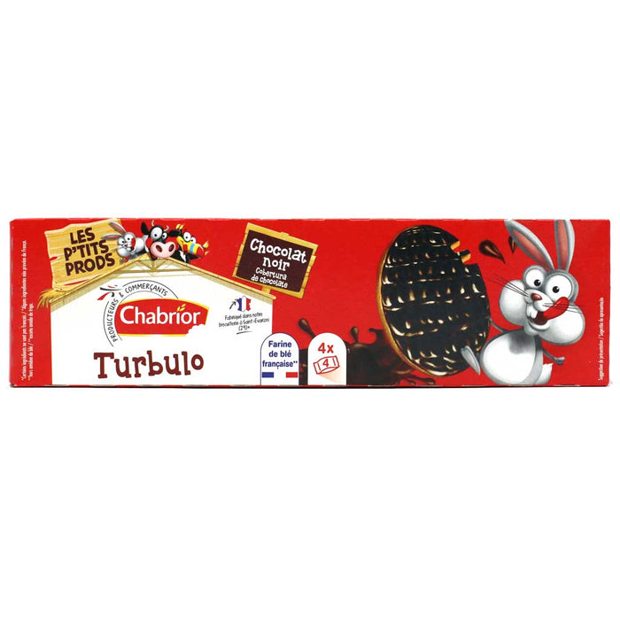 Chabrior - Dark Chocolate Covered Biscuits (Turbolo), 200g (7oz) Box