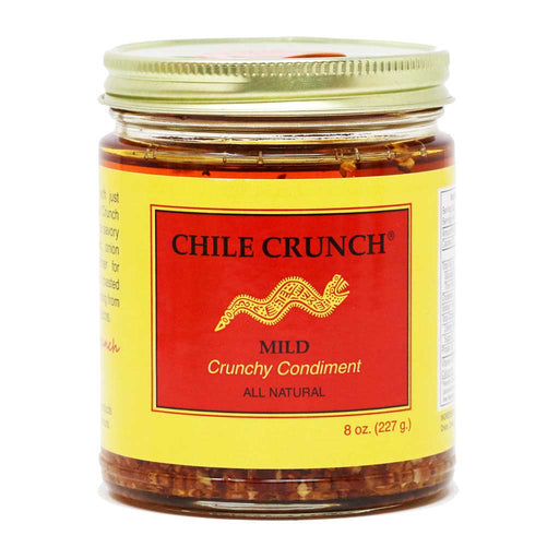 Chile Crunch - Chile & Garlic Condiment (Mild), 8oz (227g) Jar