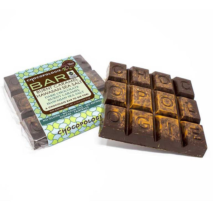 Chocopologie Burnt Caramel & Hawaiian Sea Salt Bar, 4oz