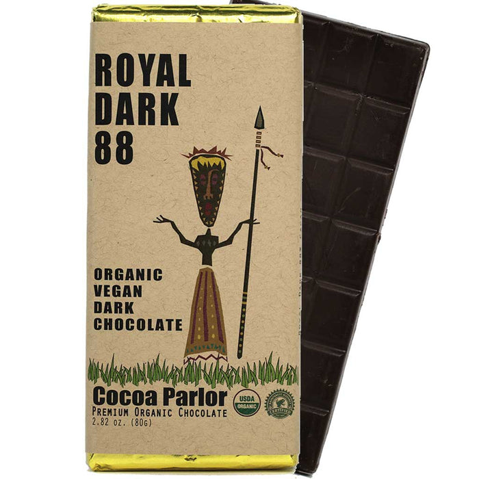 Cocoa Parlor - 88% Cacao Organic Dark Chocolate Bar, 80g