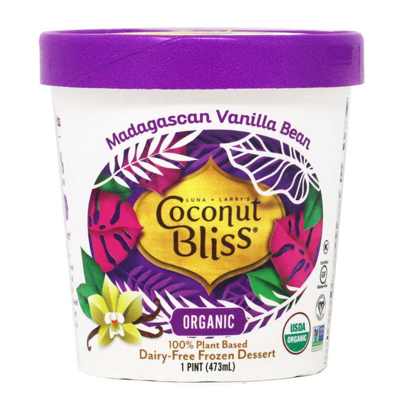 Coconut Bliss - Organic Madagascan Vanilla Bean Ice Cream, 1 Pint