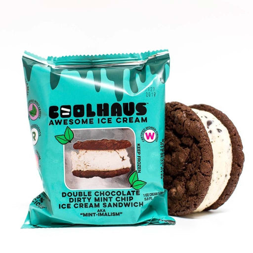 Coolhaus - Double Chocolate & Dirty Mint Ice Cream Sandwich, 5.8oz